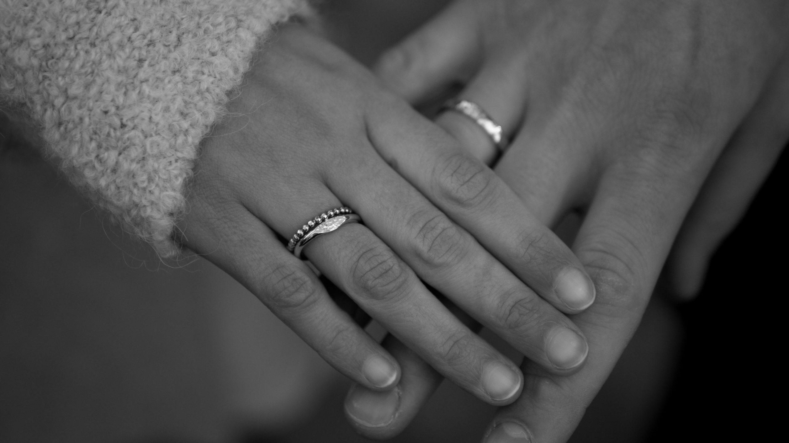Brautpaar Eheringe Nahaufnahme