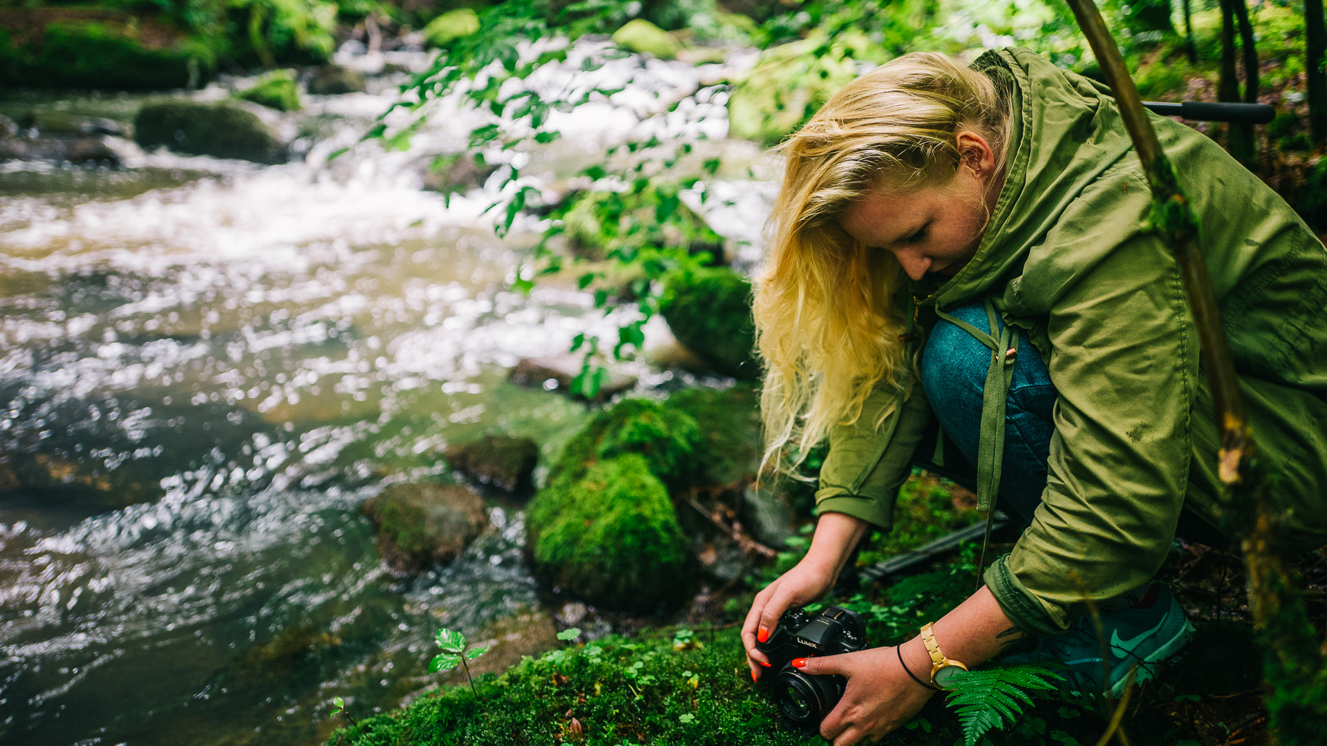 Marie Katzer im Wald at Work